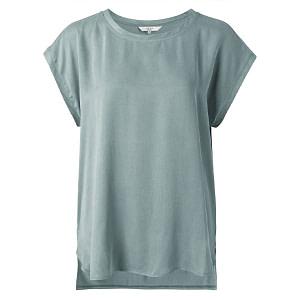YAYA Cupro T-Shirt Concrete Blue