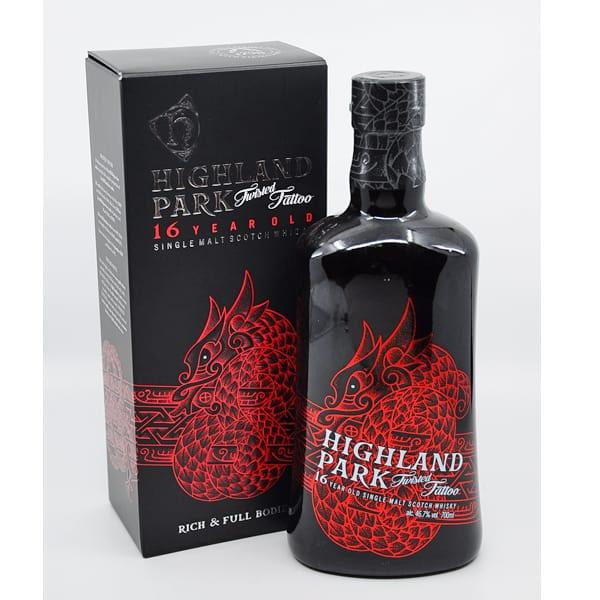 Highland Park 16y TWISTED TATTOO + GB 46,7% Vol. 0,7l Whisk(e)y Highland Park
