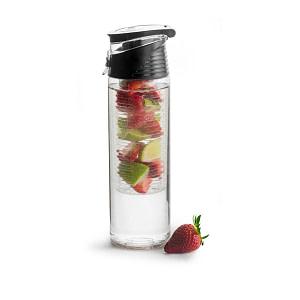 Fresh Bottle mit Einsatz für Früchte schwarz