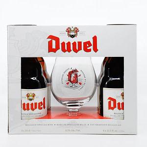 """Duvel"" Geschenkset 8,5% Vol. 4x0,33l + 1 Glas"
