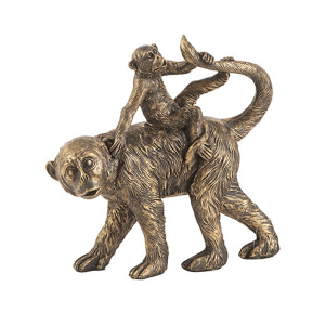 Affe Mutter & Kind Gold