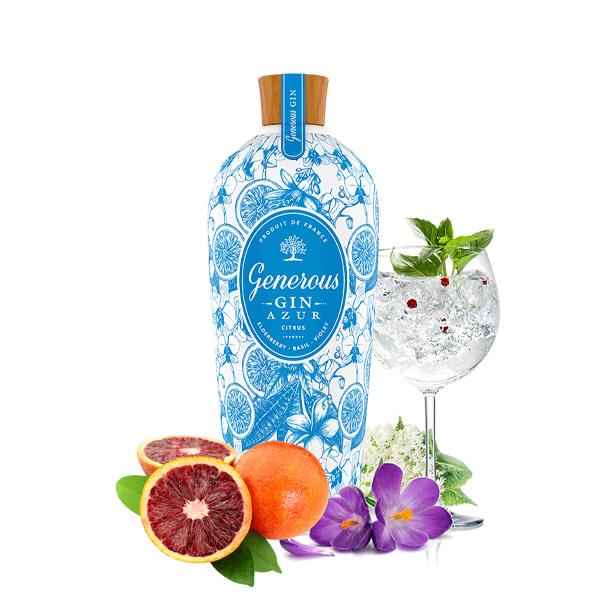 Generous Gin AZUR 40% Vol. 0,7l Gin AZUR