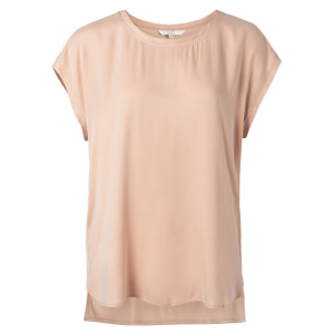YAYA Cupro Blend Mix T-Shirt Faded Rose
