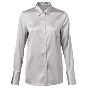 Satin Bluse silber