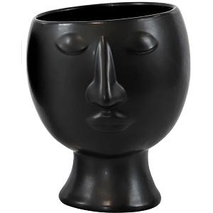 ÜBERTOPF Gesicht Black & White schwarz