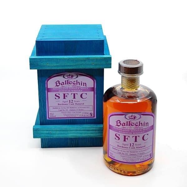 Edradour Ballechin 12y SFTC Bordeaux Cask 57,5% Vol. 0,5l Raritäten Scotch