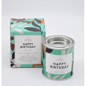 The Gift Label Small Candle HAPPY BIRTHDAY