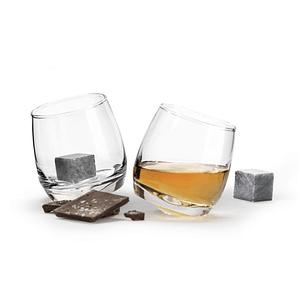 Whiskeyglas mit Whiskysteinen SET