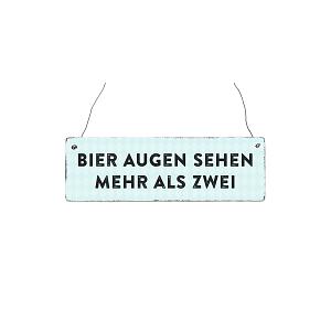 Holzschild BIER AUGEN