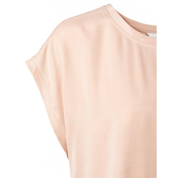 YAYA Cupro Blend Mix T-Shirt Faded Rose Für SIE Cupro