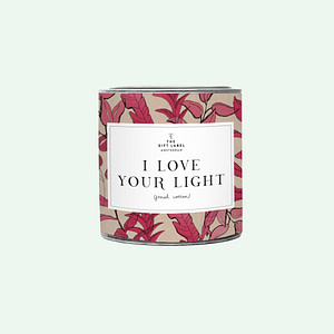 Big Candle Tin I Love Your Light + GB
