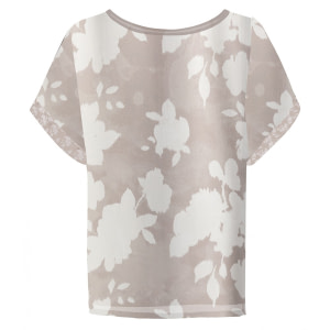 YAYA Top Satin-Look Flower
