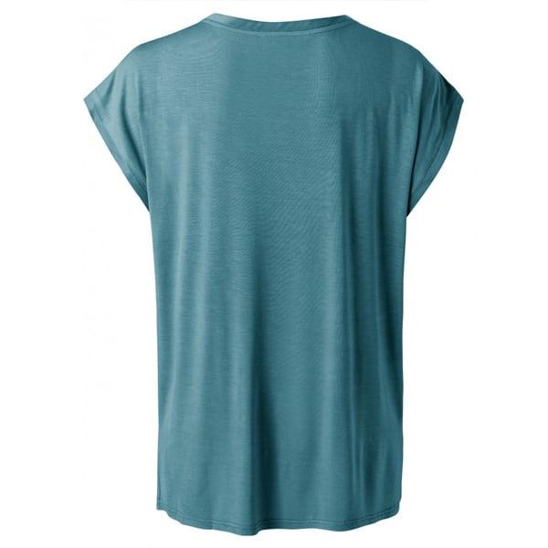 YAYA Cupro Blend Mix T-Shirt Dark Petrol Für SIE Cupro