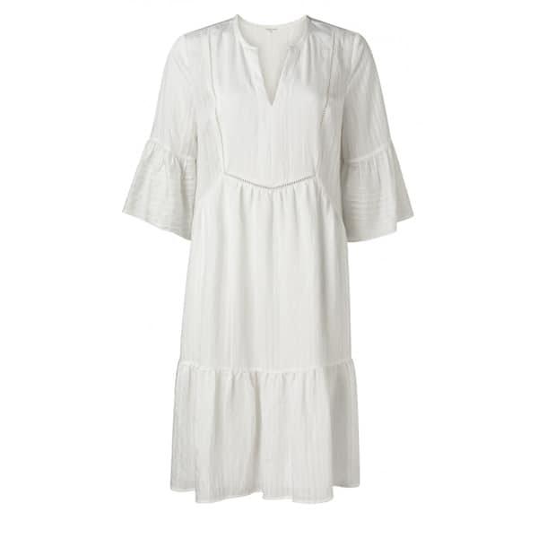 YAYA A-Linien Midikleid weiß Kleider Kleid