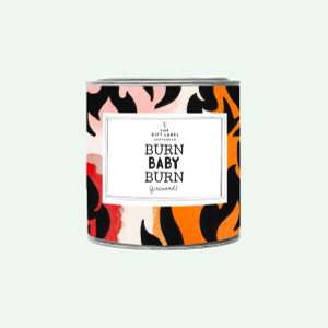 Big Candle Tin Burn Baby Burn + GB
