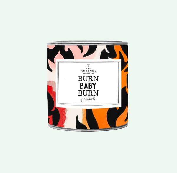 Big Candle Tin Burn Baby Burn + GB Geschenke Big Candle Tin