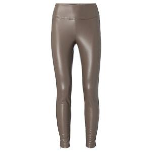 Stretch faux leather legging