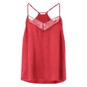 Camisole mit Spitzeneinsatz BRIGHT RED
