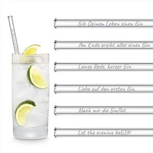HALM 6 x 20cm Gin-Sprüche