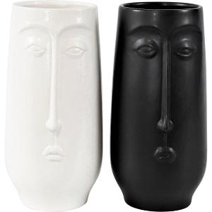 Vase Gesicht Black