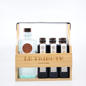 Le Tribute Gin Holzbox 0,7l + 6x0,2l